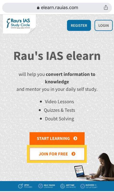Rau's IAS  Elearn